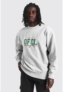 Sweat oversize Ofcl, Grey marl