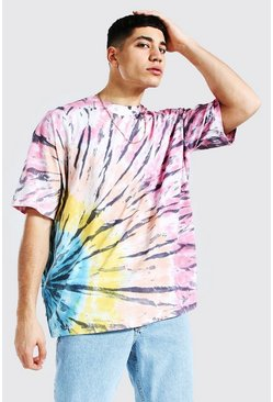 Pink Oversized Original Man Tie Dye T-shirt
