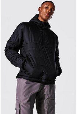 Black Overhead Quilted Jacket