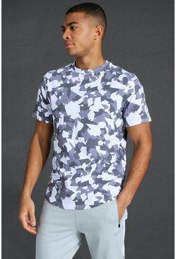 Grey Man Active Abstract Print T-shirt