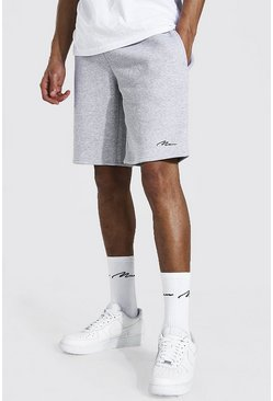 Grey marl Tall Man Signature Mid Length Jersey Short