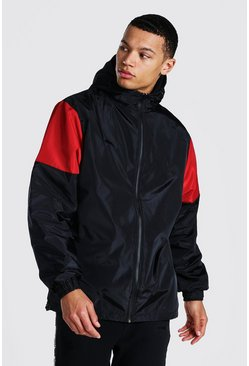 Tall Man Official Colour Block Cagoule, Black