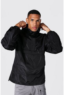 Tall Man Overhead Cagoule With Sleeve Tab, Black