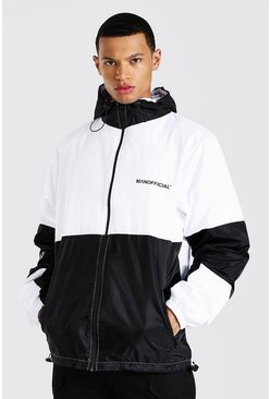 Tall - Anorak color block, White