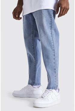 Light blue Tapered Fit Rigid Jean