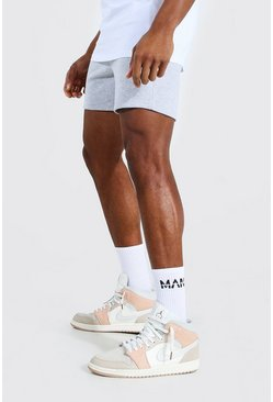 Grey marl Basic Short Length Slim Jersey Shorts