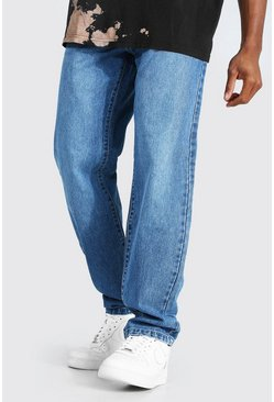 Mid blue Relaxed Fit Rigid Jean