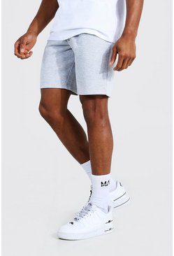 Grey marl Basic Mid Length Slim Jersey Shorts