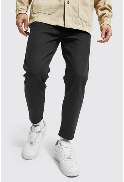 True black Tapered Fit Rigid Jean