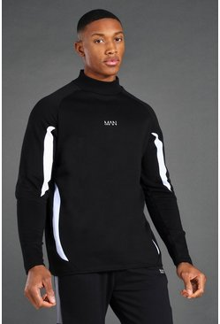 Black Man Active Mock Neck Sweatshirt