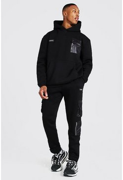 Black Oversized Official Man Utility Tracksuit