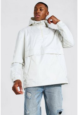Man Smart Packable Overhead Cagoule, Off white