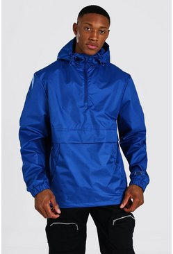 Navy Man Smart Packable Overhead Cagoule