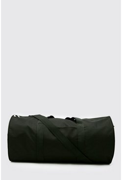 Black Large Barrel Holdall