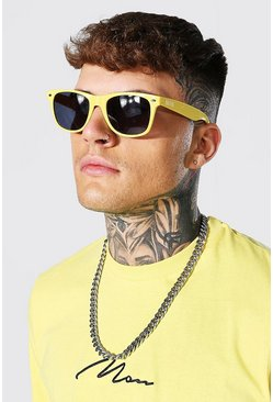 Yellow Man Wayfarer Sunglasses With Case