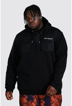 Black Plus Size Man Official Utility Hoodie
