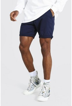 Navy Slim Fit Chino Short