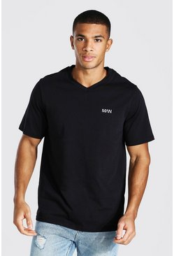 Black Original Man V-neck T-shirt
