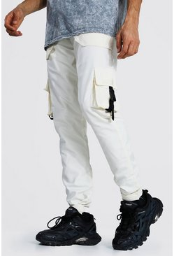 Ecru Tall Multi Pocket Cargo Trousers