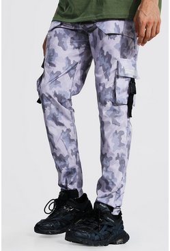 Tall Camo Multi Pocket Cargo Trousers