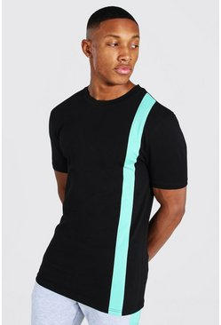 Jade Muscle Fit Colour Block T-shirt