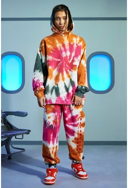 Multi Official Tie Dye Hooded Tracksuit