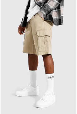 Stone Fixed Waist Band Cargo Short