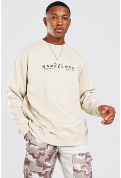 Sweat oversize Barcelona - Official MAN, Sand