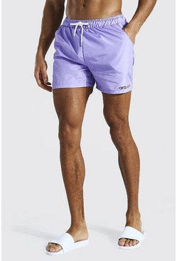 Lilac Official Man Short Length Swim Short
