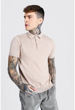 Stone Short Sleeve Knitted Polo