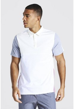 Ecru Colour Block Polo