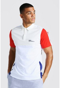 Red Man Official Colour Block Polo