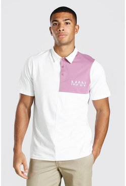 Ecru Original Man Colour Block Polo