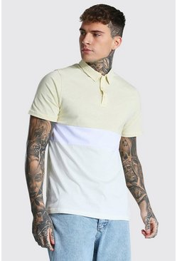Sand Colour Block Polo