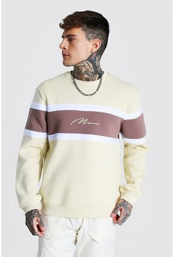 Sand Man Signature Colour Block Sweatshirt