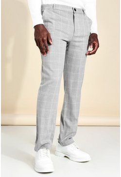 Grey Skinny Check Smart Trouser