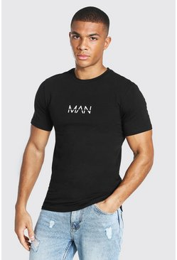 Black Original Man T-shirt In Muscle Fit