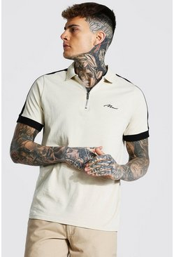 Sand Man Signature 1/4 Zip Polo With Side Panel