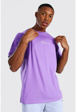 Purple Man Signature Embroidered T-shirt