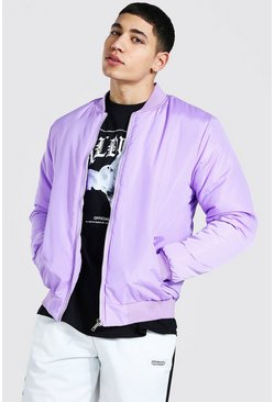 Lilac Ofcl Man Back Print Bomber