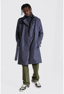 Trench croisé mi long, Grey