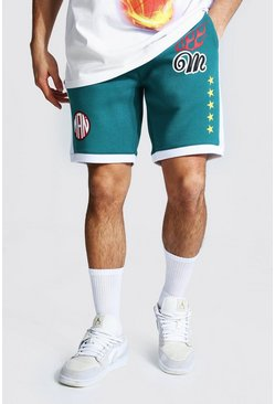 Teal Official Man Basketball Short