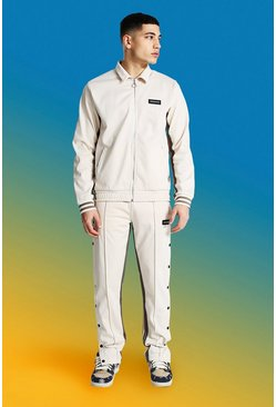 Ecru Official Man Harrington Tricot Tracksuit