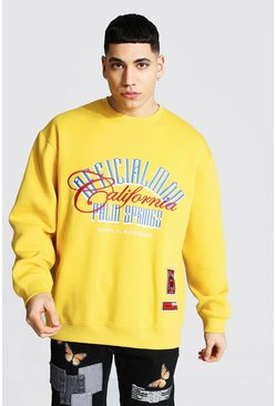 Mustard Official Man Oversized Palm Springs Sweater