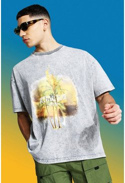 Grey  Man Official Oversized Acid Wash T-shirt