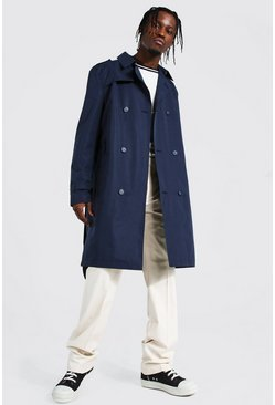 Trench croisé mi long, Navy