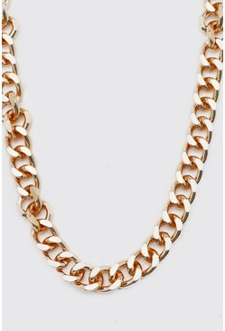 Gold Chunky Cuban Style Chain Necklace