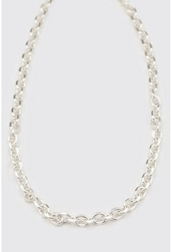 Chunky Cable Chain With Toggle, Silver