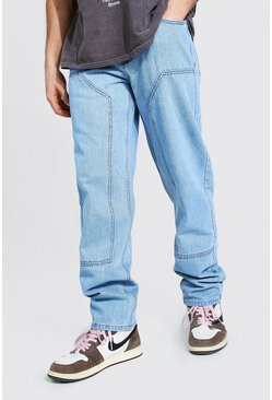 Light blue Relaxed Fit Worker Jean
