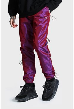 Pink Iridescent Bungee Shell Joggers